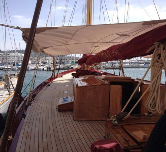 Cordages Meyer sur le bateau Adria