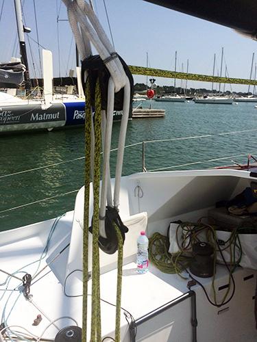 Mise à l'eau bateau Aina Aymeric Chappellier
