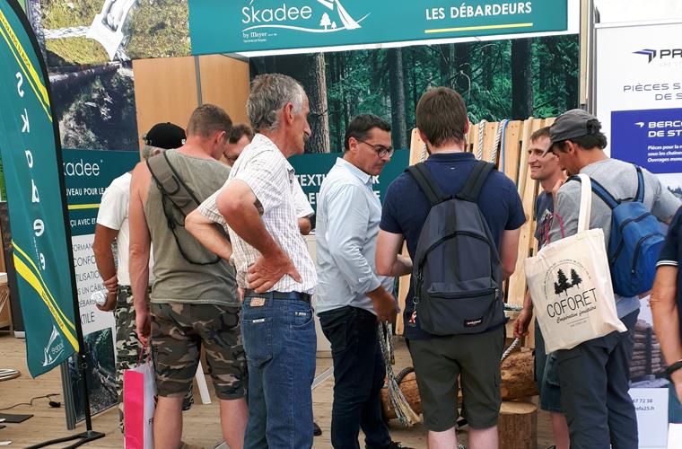 Debardeurs_forestiers_stand_skadee_euroforest_2018_1