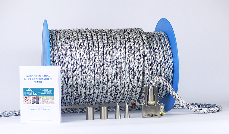 Skadee : un kit complet de câble textile pour le débardage forestier