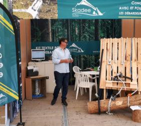 Stand de la marque Skadee câble pour le débardage à Euroforest