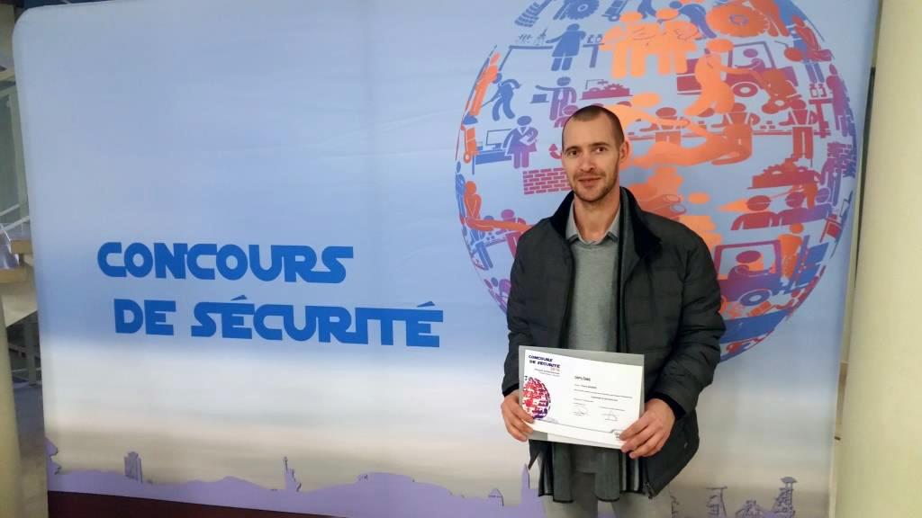 Pierre ANDRES, Responsable de maintenance, récompensé au concours de sécurité Carsat