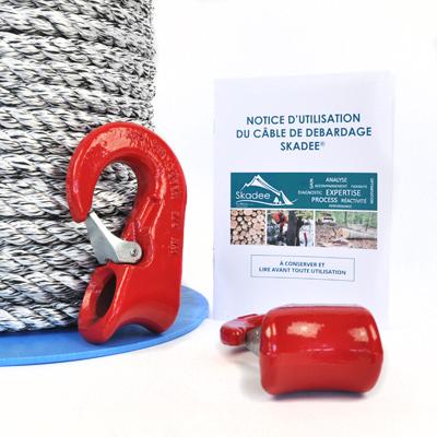 Skadee : câble textile débardage forestier avec crochets coulissants