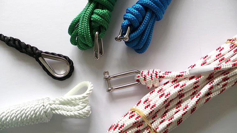 Gamme de cordages marins Meyer-Sansboeuf : drisses, écoutes, amarres, mouillages et autres cordages multi-usages